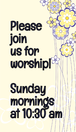 Come & Worship with us!